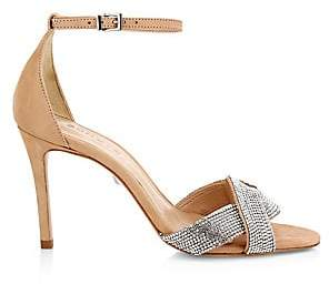 Schutz Women's Jolita Crystal-Embellished Leather Sandals