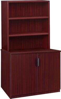 Latitude Run Linh Storage Cabinet with Open Hutch Latitude Run