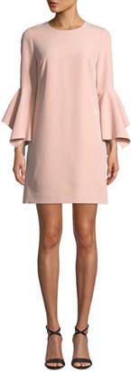 Milly Rachel Italian Cady Bell-Sleeve Dress