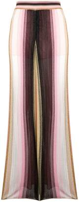 M Missoni striped knit flared trousers