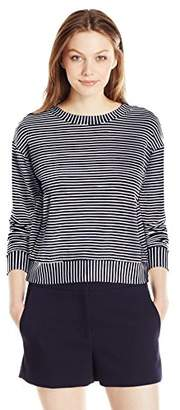 Michael Stars Women's French Terry Stripe Longsleeve Sweatshirt