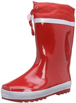 Playshoes Kids' Gummistiefel aus Naturkautschuk GefÃ1⁄4ttert Rain Boots, (Red), 7.5 Child UK