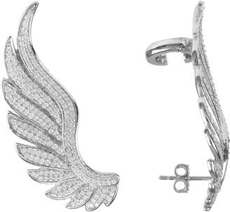 Latelita Gabriel Angel Wing Ear Climber Silver