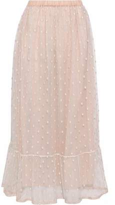 RED Valentino Embroidered Tulle Maxi Skirt