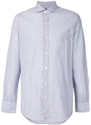 Finamore 1925 Napoli long sleeved stripe shirt