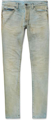 John Elliott The Cast 2 Skinny-Fit Distressed Stretch-Denim Jeans