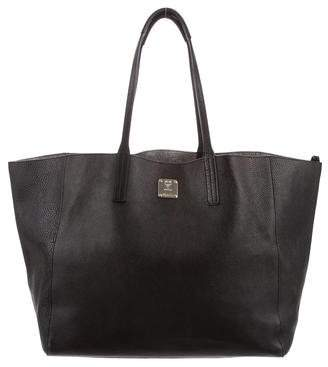 MCM Wandel Medium Leather Shopper Tote Bag