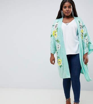 Asos DESIGN Curve embellished floral kimono jacket