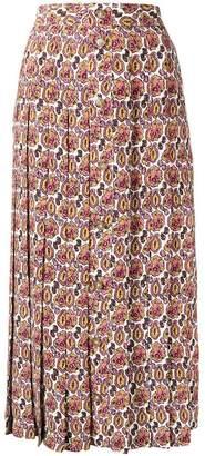 Victoria Beckham front pleat skirt