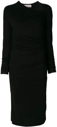 A.F.Vandevorst slash neck gathered dress