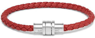 Montblanc Meisterstück Braided Leather And Stainless Steel Bracelet
