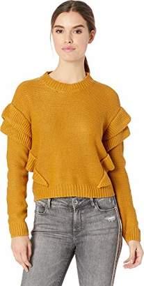 BB Dakota Junior's Cabin Fever Ruffle Drop Shoulder Sweater