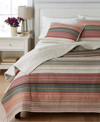 Martha Stewart Collection 100% Cotton Desert Rock Reversible Full/Queen Quilt, Created for Macy's