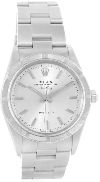Rolex Air King 14010 Stainless Steel Silver Dial Automatic Mens Watch