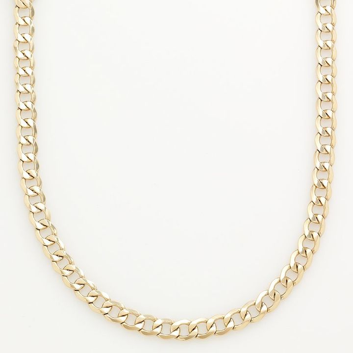 10k Gold-Over-Silver Curb Chain Necklace