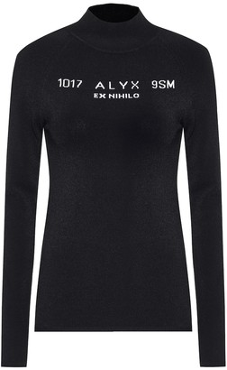 Alyx Logo instarsia knitted top