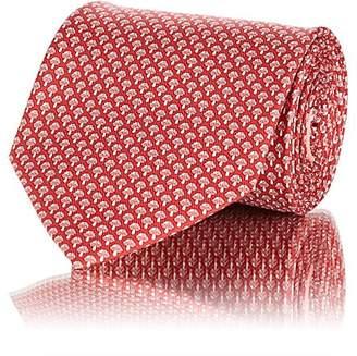 Salvatore Ferragamo Men's Mushroom-Print Silk Twill Necktie