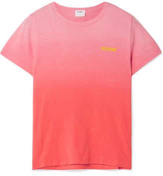 RE/DONE Printed Dégradé Cotton-jersey T-shirt - Coral