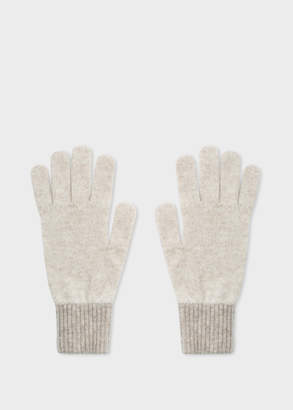 Paul Smith Women's Ecru Wool Knitted Gloves