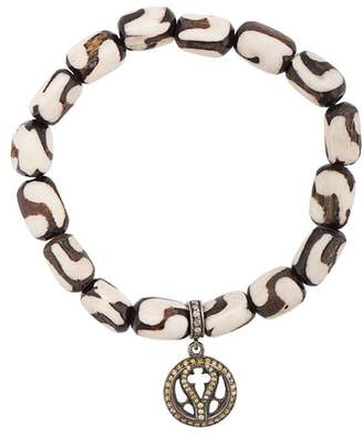 Loree Rodkin bone beaded charm bracelet
