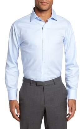 Lorenzo Uomo Trim Fit Houndstooth Dress Shirt