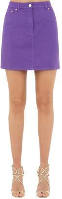 Alberta Ferretti Cotton Denim Mini Skirt