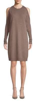Saks Fifth Avenue BLACK Cold-Shoulder Knit Dress