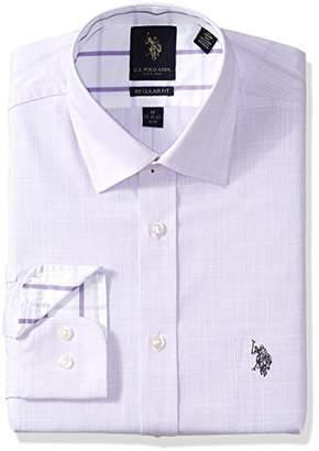 U.S. Polo Assn. Men's Regular Fit Solid Semi Spread Collar Dress Shirt