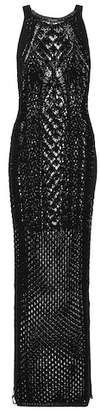 Balmain Crocheted cotton maxi dress
