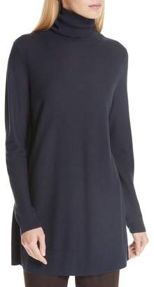 Eileen Fisher Tencel(R) Lyocell & Silk Turtleneck Tunic
