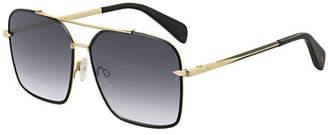 Rag & Bone Square Gradient Stainless Steel Sunglasses