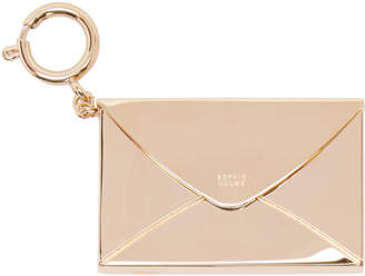Sophie Hulme Gold Stationary Envelope Keychain