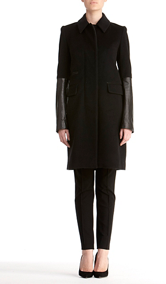 Diane von Furstenberg Sterling Coat In Black/black