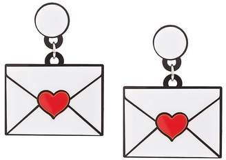 Yazbukey heart envelope earrings
