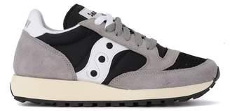 Saucony Jazz Vintage Grey Suede And Black Fabric Sneaker