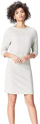 find. Women's Dress in a Textured Box Cut. Jersey, Crew Neck and Long Sleeves,(Manufacturer size: Medium)