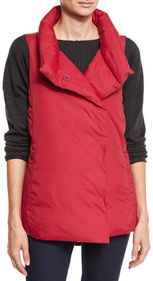 Eileen Fisher Weather-Resistant Down Puffer Vest $278 thestylecure.com