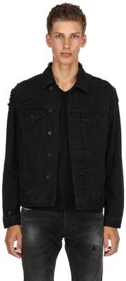 Diesel Distressed Cotton Denim Shirt Jacket
