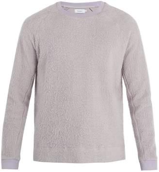 Fanmail Crew-neck Sherpa-fleece cotton sweatshirt