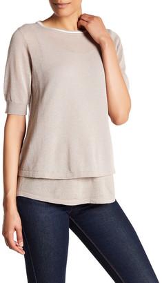 Cullen Elbow Sleeve Linen Blend Double Layer Shirt $180 thestylecure.com