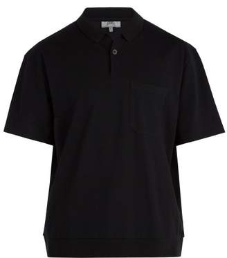 Lanvin Oversized Cotton Pique Polo Shirt - Mens - Black