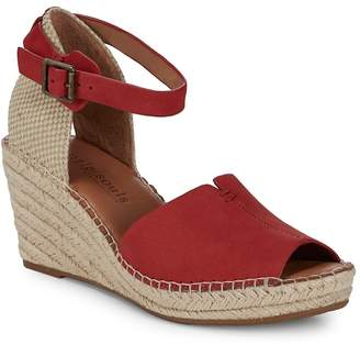 Gentle Souls Women's Charli Leather Espadrille Wedge Sandals