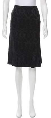 Lela Rose Knee-Length Skirt Black Knee-Length Skirt