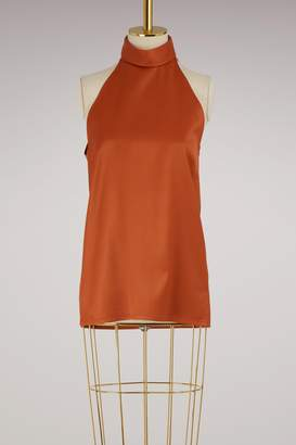 Pallas Sleeveless satin top