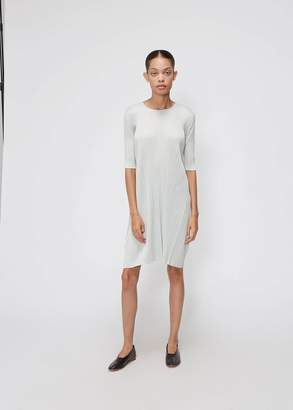 Pleats Please Issey Miyake Long Sleeve Flare Dress
