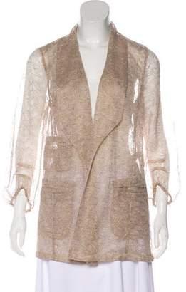 Diane von Furstenberg Lace Open Front Blazer