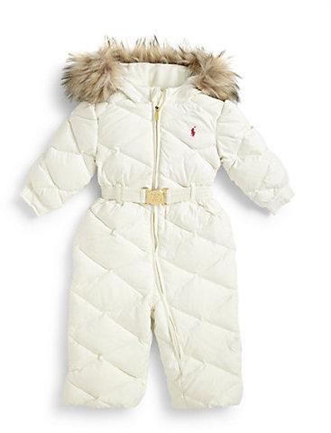 Ralph Lauren Infant's Quilted Down Snowsuit