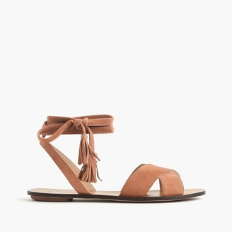 Lace-up suede sandals $118 thestylecure.com