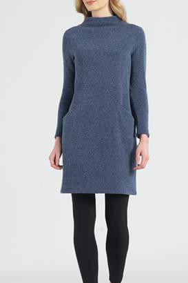 Sun Woo Soft Funnel Sweater Dress