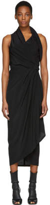 Rick Owens Black Silk Limo Dress